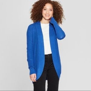 NWT A New Day Essential Cocoon Cardigan Blue Med